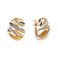 Золотые серьги с бриллиантами ИМС0553-120