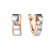 Золотые серьги с бриллиантами ИМС0575-120