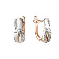 Золотые серьги с бриллиантами ИМС0604-120