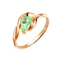 Золотое кольцо с хризолитами ЮИК120-5677хр
