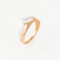 Золотое кольцо с фианитами СН3729