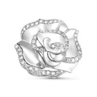 Серебряная брошь с фианитами ДП060155С
