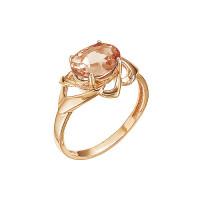 Золотое кольцо с раухтопазами ЮИК120-3799тр