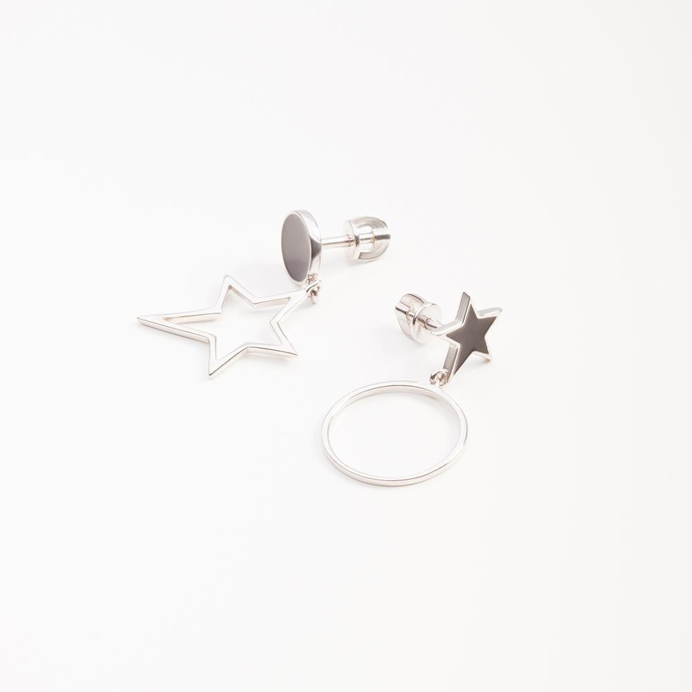 Серебряные серьги гвоздики 6В12-0195