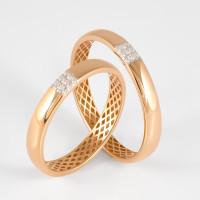Золотое кольцо обручальное с бриллиантами ЮПК13110745