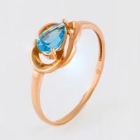 Золотое кольцо с топазами ЮИК120-4487тс