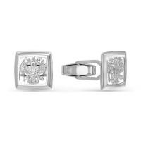 Серебряные запонки ДПС660054