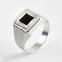 Серебряная печатка с фианитами 2ИС040210