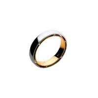 Кольцо из белого золота обручальное с бриллиантами ШЛК-402М