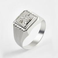 Серебряная печатка 2ИС040603