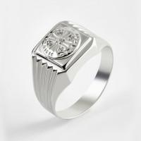 Серебряная печатка с фианитами 2ИС040610