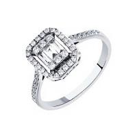 Кольцо из белого золота с бриллиантами МЦМП00109-УЗ-3-Т