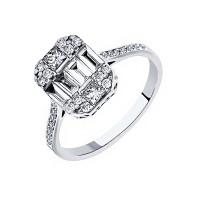 Кольцо из белого золота с бриллиантами МЦАЛУ0088-УЗ