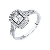 Кольцо из белого золота с бриллиантами МЦМП00054-УЗ-2