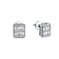 Золотые серьги гвоздики с бриллиантами МЦАЛУБ101-КП