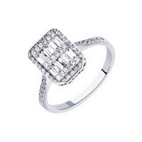Кольцо из белого золота с бриллиантами МЦАЛУБ101-УЗ