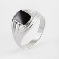 Серебряная печатка с ониксами РО3102014Р