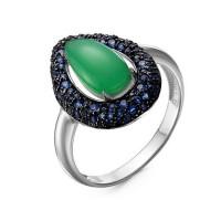Серебряное кольцо с кварцем плавленым