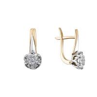 Золотые серьги с бриллиантами ЮЗ2-11-1045-301