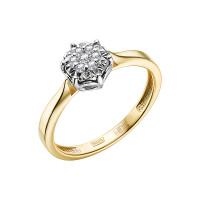 Золотое кольцо с бриллиантами ЮЗ1-11-1041-301