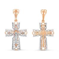 Золотой крест с бриллиантами БТ11-0076