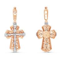 Золотой крест с бриллиантами БТ11-0060