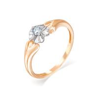 Золотое кольцо с бриллиантом ИМК0131-120