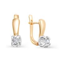 Золотые серьги с бриллиантами ИМС0124-120