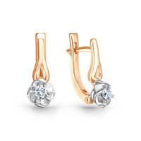 Золотые серьги с бриллиантами ИМС0132-120