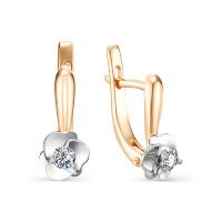 Золотые серьги с бриллиантами ИМС0142-120