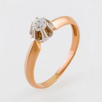 Золотое кольцо с фианитами 2И110001