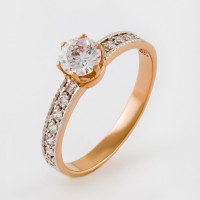 Золотое кольцо с фианитами 2И110080