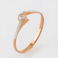Золотое кольцо с фианитами 2И210071