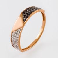 Золотое кольцо с фианитами 2И112009-1