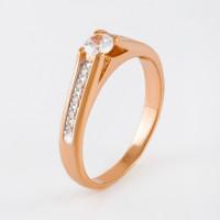 Золотое кольцо с фианитами 2И110657