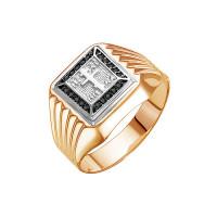 Золотая печатка с фианитами 2И040600-5