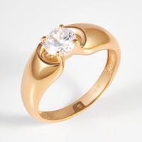 Золотое кольцо с фианитами 2И112098