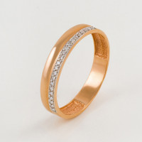 Золотое кольцо обручальное с бриллиантами ЮПК1318286