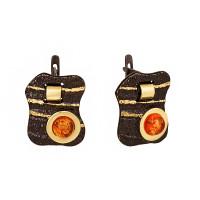 Серебряные серьги с янтарем ЯН72131030