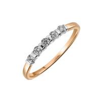 Золотое кольцо с фианитами ЛФР01-З-З-РМС-024