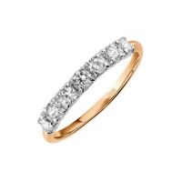 Золотое кольцо с фианитами ЛФР01-З-З-РМС-018