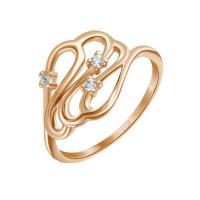 Золотое кольцо с фианитами ЛФР01-З-59214-З
