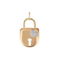Золотая подвеска с фианитами ЛФП01-З-59680-З