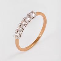 Золотое кольцо с фианитами ЛФР01-З-З-РМС-13