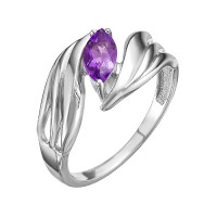 Серебряное кольцо с аметистами ЮИК620-4142Ам
