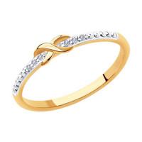 Золотое кольцо с бриллиантами ДИ1011923