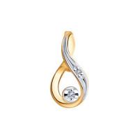 Золотая подвеска с бриллиантами ДИ1030780