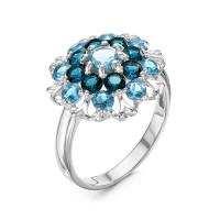 Серебряное кольцо с кварцем плавленым РО1-1026Р-10311