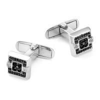 Серебряные запонки с фианитами РО63-02-051