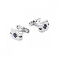 Серебряные запонки с фианитами РО63-02-053Р208